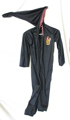 Harry Potter  Hooded Cape Costume Halloween Robe Rubies Gryffindor Size M Black