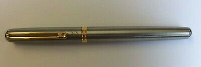 Inoxcrom Sirocco Stainless Steel Fountain Pen.