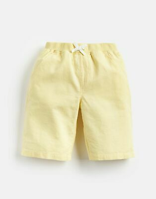 Joules Boys Huey Linen Mix Woven Short 1 12 Yr in YELLOW Size 7yrin8yr
