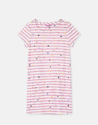 Joules 204612 Jersey Dress in PINK STAR STRIPE Size 6yr