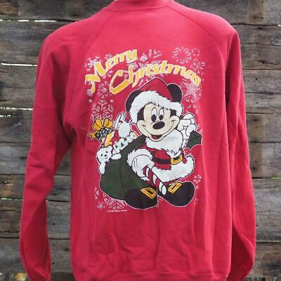 Vintage Disney Mickey Mouse Ugly Christmas Sweatshirt Size LT
