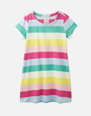 Joules 204608 A Line Shaped Dress in MULTICOLOURED STRIPE Size 4yr