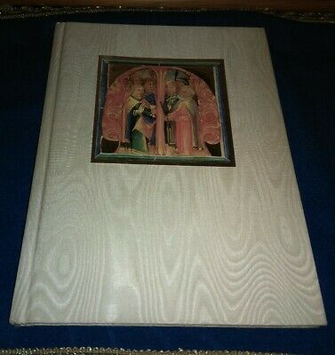 "Medieval 1500's Facsimile Manuscript ""MISSALE"" Book of Hours Silk Cover Gilded"