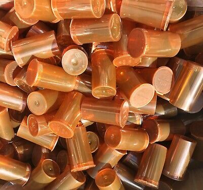 1 Box 900 Container AMBER 19 Dram POP TOP Tube Bottles