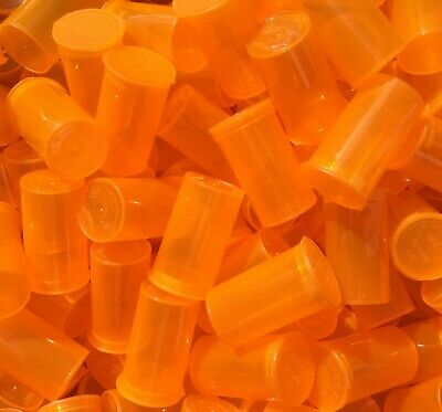 ORANGE 19 Dram POP TOP Tube Bottles Product Packaging USA 1 Bx 900 Containers