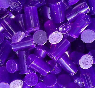 VIOLET 19 Dram POP TOP Tube Product Packaging Bottles USA 1 Bx 900 Containers
