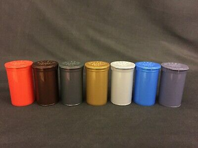 19 Dram Opaque METALLIC MIX POP TOP Tube Package Bottles USA 1 Bx 900 Containers