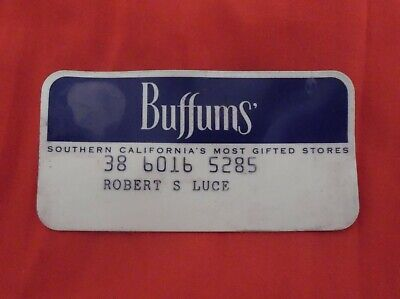 Vintage Old Buffums Credit Card (Southern California's Most Gifted Stores)