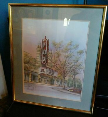 Anni Moller Print Fox Theatre Atlanta Georgia Gone With The Wind Signed Numbered