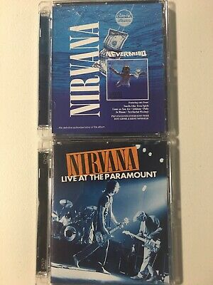 Nirvana 2 DVD Lot: Nevermind + Live At The Paramount Tested Working Cracked Case