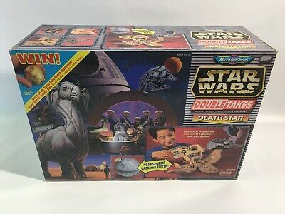 STAR WARS Micro Machines DEATH STAR Playset 1997 Galoob DOUBLE TAKES Big NEW VTG