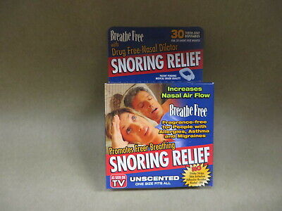 Breathe Free SNORING RELIEF nasal dilator strips 30 DAY SUPPLY as seen on TV