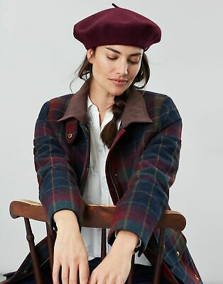 Joules Womens Wilsford Felted Berret in BILBERRY in One Size
