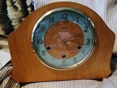 Smith's Westminster chime Mantle Clock. E. W.O. Ws1. Reduced