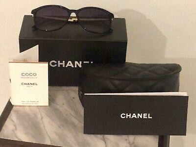 Brand New With Case/Paperwork authentic CHANEL womens sunglasses Black/gold!!!