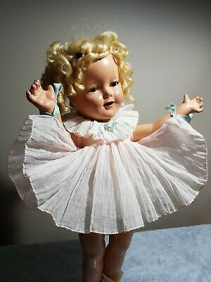 Shirley Temple Curly Top dress set for Ideal  composition doll 18 inch 1930's