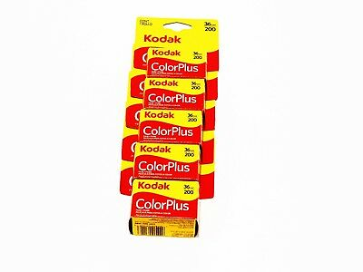 5 x Roll KODAK COLORPLUS 200 COLOR NEG Film--35mm/36 exps--FRESH-expiry: 09/2020