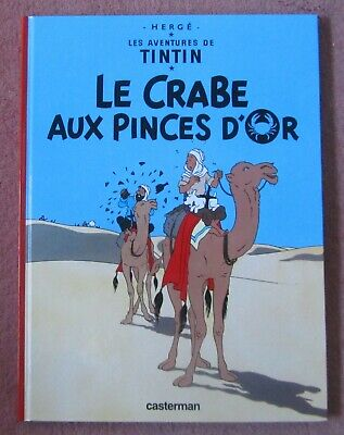 The adventures of Tintin in FRENCH Le crabe aux pinces d'or by Herge, hardcover