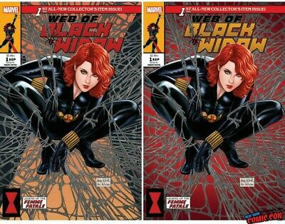 Web Of Black Widow #1 Ashley Witter Nycc 2019 Exclusive Cover A & B
