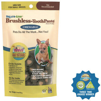 ARK NATURALS Breath-Less Brushless Toothpaste Mini Fo Your Pets - 4 oz. (113 g)
