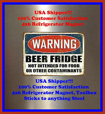 Beer Fridge No Other Man Cave Decor SIGN 4x6 Magnet BAR TOOLBOX Refrigerator