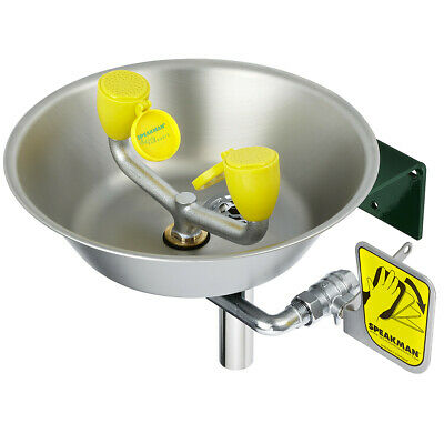 Speakman SE-490  Traditional Series Eye / Face Wash with Stainless Steel Bowl,