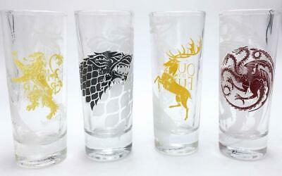 GAME OF THRONES - Set of 4 Mini Glasses - All Houses