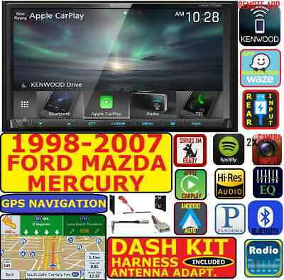 1998-2007 Ford Mercury Mazda Gps Navigation Apple Carplay Android Auto Car Radio