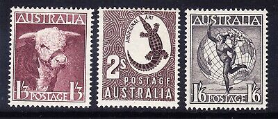 AUSTRALIA 1948/56 SG223/24d set of 7 high values - v lightly mounted mint cv£140