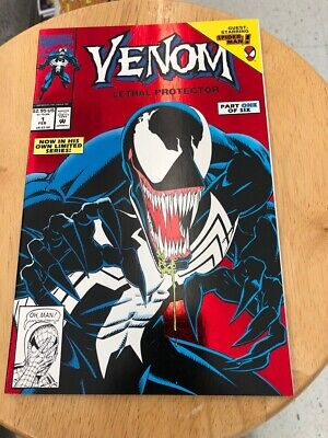Venom Lethal Protector #1 Marvel Comics NM Red Foil Cover Mark Bagley Art