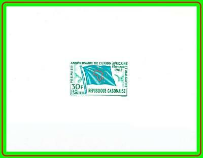 GABON 1962 AFRICAN UNION deLUXE S/S SC#165 MNH CV$16.00 FLAGS, JOINT ISSUE