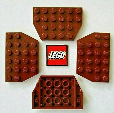 24 LEGO Plate 1x2 with Slide Reddish Brown Element ID 4645103 Design ID 32028