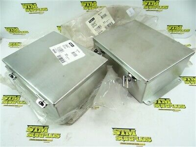 "2 New Hoffman Jic Enclosure Box Stainless Steel 4"" X 8"" X 10"" A1008Nfss"