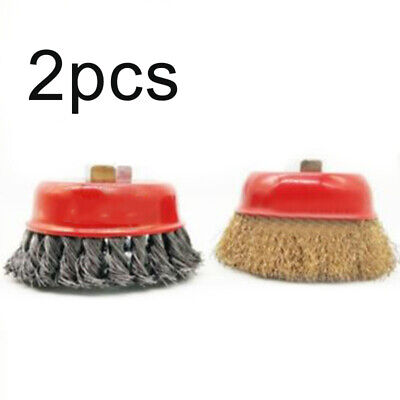 Drill Cup brush Cleaning Remover Wire Accessories 3 inches Angle Grinder