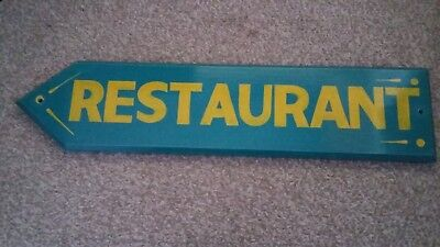 Wooden Handmade Restaurant Sign