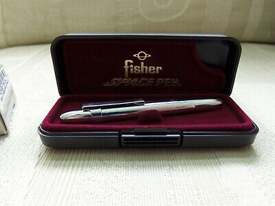 Fisher Chrome Bullet Space Ball Point Pen 400Cl W/Box Paperwork