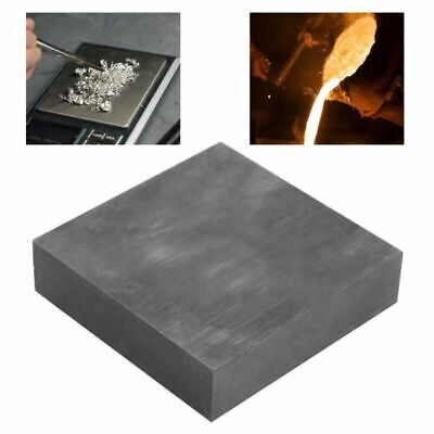 Fine Graphite Blank Block 1x4x4inch High Purity/Density Jewelry Tools Gray