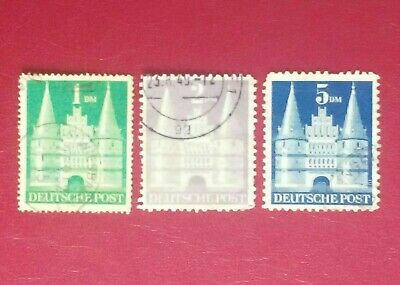 Alemania. 1948. Holstentor Lubeck. Germany Allied Occ. Bizone. Deutsche Post.