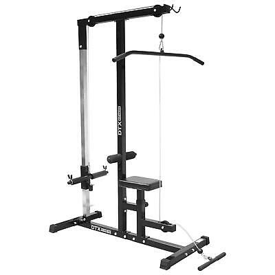 DTX Fitness Home Multi Gym Lat Pull Down Bicep Curl Bodybuilding New