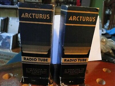 """Arcturus 2A3 Audio Power Tubes-Date Code Matched """"3A14""""-Rare Vintage Power"""