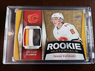 2018-19 Upper Deck Series 2 Juuso Valimaki Rookie Materials 4 Color Patch 9/25