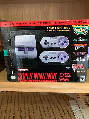 NEW IN BOX Super Nintendo Entertainment System: Super NES Classic Edition