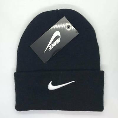 Nike Beanie Hat Winter Black White One Size Adults Unisex Clearance SALE Free PP