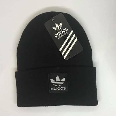 Adidas Beanie Hat Winter Cap Black One Size Adults Unisex Free Postage On Sale