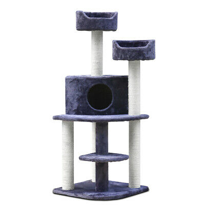 126cm Cat Tree Scratching Post Scratcher Pole Condo Gym Toy Furniture @HOT