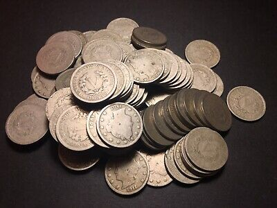 Us Coin Collection V Nickels 5c 1900-1912 Lot Of 100 Obsolete Us Coins NR