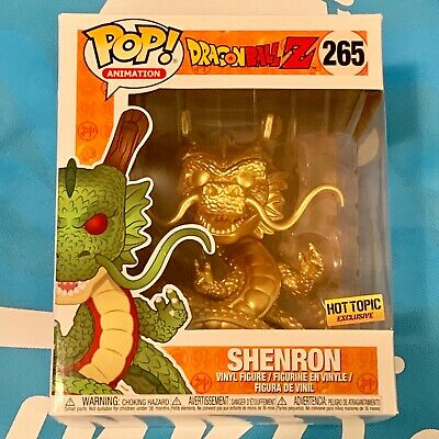 FunKo POP! Dragon Ball Z Golden Shenron #265 Hot Topic Exclusive With Protector