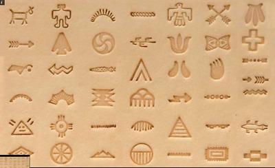 Craftool Native American Symbol Stamp Set Tandy Leather 8160-00