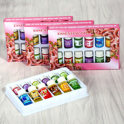 UK!! 12Pcs Natural Aroma Fragrance Essential Oil Set For Aromatherapy Humidifier