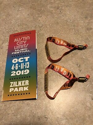 **2 Wristbands** 2019 Austin City Limits Fest Weekend One 3-Day GA OCT 4-6